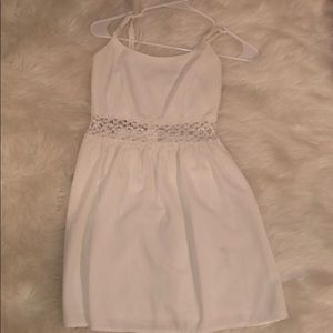white forever 21 laced dress